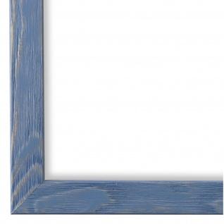 Bilderrahmen hell Blau Retro Modern Holz Siena 2, 0 - NEU alle Größen