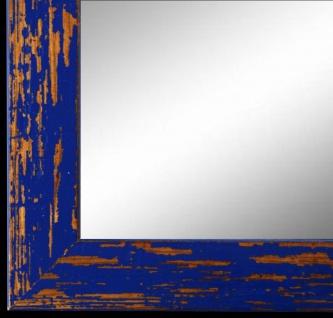 Wandspiegel Spiegel Blau Shabby Antik Holz Cremona 3, 0 - NEU alle Größen