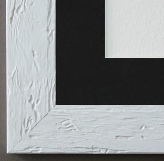 Bilderrahmen Parma in Weiss mit Passepartout in Schwarz 3, 9 - NEU alle Größen