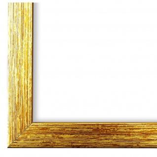 Bilderrahmen Gold Struktur Modern Holz Como 2, 0 - NEU alle Größen