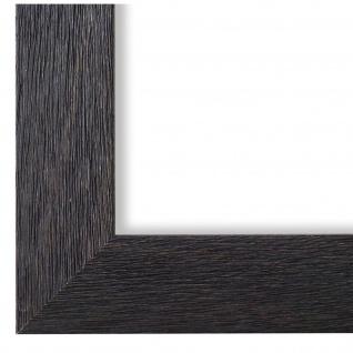 Bilderrahmen Schwarz Struktur Modern Vintage Retro Florenz 4, 0 - NEU alle Größen