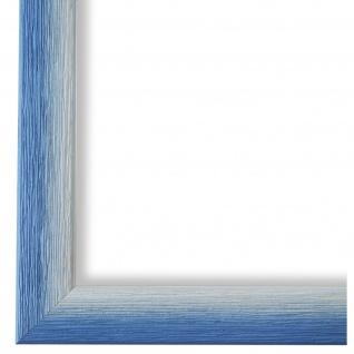 Bilderrahmen hell Blau Retro Vintage Holz Pinerolo 2, 3 - NEU alle Größen