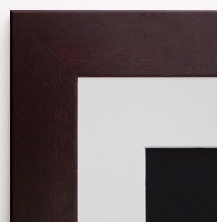 Bilderrahmen Florenz Braun Rot Landhaus mit Passepartout Weiss 4, 0 - alle Größen