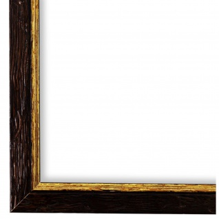 Bilderrahmen Braun Gold gemasert Vintage Shabby Holz Vasto 1, 8 - NEU alle Größen