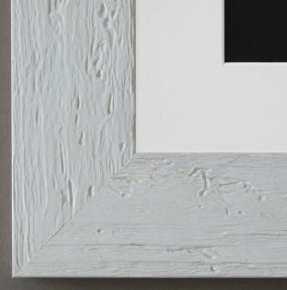 Bilderrahmen Capri in Weiss mit Passepartout in Weiss 5, 8 Top Qualität