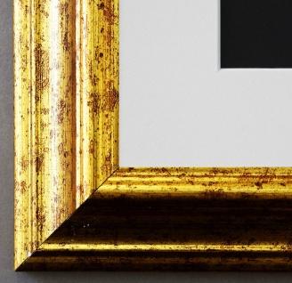 Bilderrahmen Bari in Gold mit Passepartout in Weiss 4, 2 - NEU alle Größen