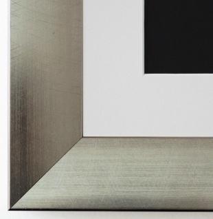 Bilderrahmen Bergamo in Silber mit Passepartout in Weiss 4, 0 Top Qualität