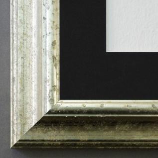 Bilderrahmen Genua in Silber mit Passepartout in Schwarz 4, 3 Top Qualität