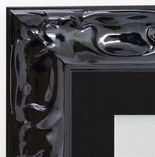 Bilderrahmen Sylt Schwarz Lack Modern Passepartout in Schwarz 5, 7 - alle Größen