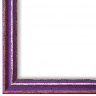 Bilderrahmen Lila Antik Shabby Holz Cosenza 2, 0 - 40x60 50x50 50x60 60x60