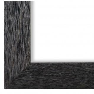 Bilderrahmen Schwarz Struktur Florenz 4, 0 - DIN A2 - DIN A3 - DIN A4 - DIN A5