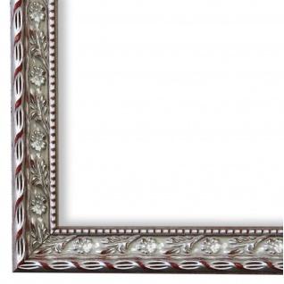 Bilderrahmen Silber Barock Vintage Holz Brescia 3, 0 - NEU alle Größen