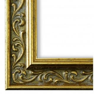 Bilderrahmen Gold Holz Verona 4, 4 - DIN A2 - DIN A3 - DIN A4 - DIN A5