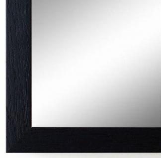 Flurspiegel Schwarz Struktur Como Modern 2, 0 - alle Größen
