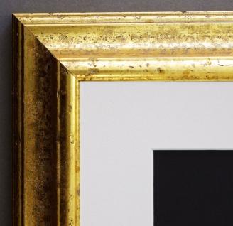 Bilderrahmen Genua in Gold Art Deco-Stil Passepartout in Weiss 4, 3 - alle Größen