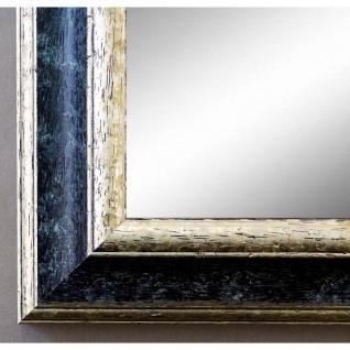 Wandspiegel Spiegel Schwarz Silber Vintage Retro Genua 4, 3 - NEU alle Größen