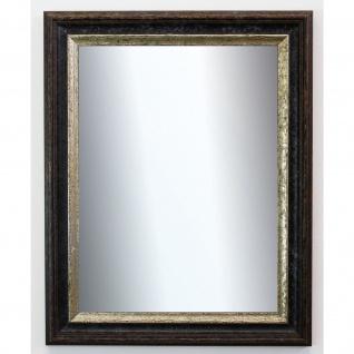 Dekospiegel Schwarz Silber Trento Antik Shabby 5, 4 - NEU alle Größen