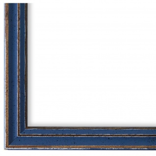 Bilderrahmen hell Blau Holz Cosenza 2, 0 - DIN A2 - DIN A3 - DIN A4 - DIN A5