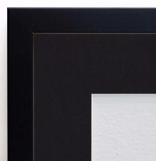 Bilderrahmen Como in Schwarz Modern Passepartout in Schwarz 2, 0 - alle Größen