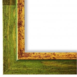 Bilderrahmen Grün Gold Retro Vintage Holz Catanzaro 3, 9 - NEU alle Größen