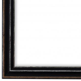 Bilderrahmen Schwarz Antik Shabby Holz Cosenza 2, 0 - NEU alle Größen