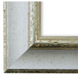 Bilderrahmen Weiss Silber Holz Acta 6, 8 - DIN A2 - DIN A3 - DIN A4 - DIN A5