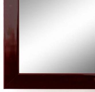 Wandspiegel dunkel Rot Lack Como Modern 2, 0 - alle Größen