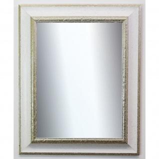 Garderobenspiegel Weiß Silber Acta Antik 6, 7 - NEU alle Größen