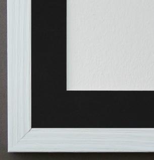Bilderrahmen Siena in Weiss mit Passepartout in Schwarz 2, 0 - NEU alle Größen