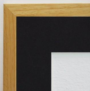 Bilderrahmen Oldenburg Natur Struk. Modern Passepartout Schwarz 1, 7 - jede Größe
