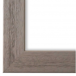 Bilderrahmen Grau Struktur Modern Vintage Holz Florenz 4, 0 - NEU alle Größen