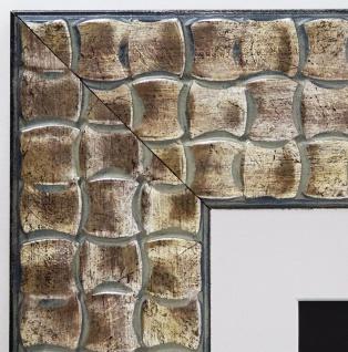 Bilderrahmen Bremen in Silber Kupfer Modern Passepartout Weiss 8, 0 - alle Größen