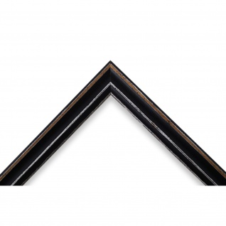 Bilderrahmen Schwarz Antik Shabby Holz Cosenza 2, 0 - NEU alle Größen - Vorschau 3