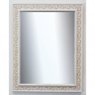 Spiegel Wandspiegel Badspiegel Flur Antik Barock Shabby Vintage Verona  Weiss 4, 4