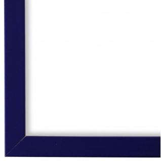Bilderrahmen dunkel Blau Modern Retro Holz Asti 1, 7 - NEU alle Größen