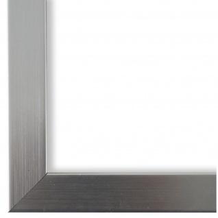 Bilderrahmen Silber geschliffen Modern Vintage Holz Amalfi 2, 5 - NEU alle Größen
