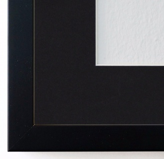 Bilderrahmen Como in Schwarz mit Passepartout in Schwarz 2, 0 - NEU alle Größen
