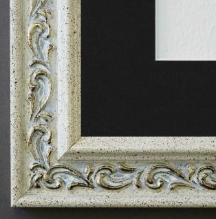 Bilderrahmen Verona in Creme mit Passepartout in Schwarz 4, 4 Top Qualität