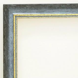 Bilderrahmen Grau Gold Antik Rahmen Holz Klassisch Braunschweig 2, 5 alle Größen