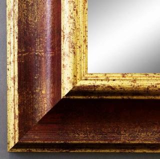 Wandspiegel Hochformat Querformat Antik Acta Rot Gold 6, 7 - NEU alle Größen