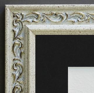 Bilderrahmen Verona Creme Barock mit Passepartout in Schwarz 4, 4 - alle Größen