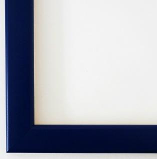 Bilderrahmen Rahmen Holz Modern Art Hannover in Blau Matt 2, 4 - Top Qualität