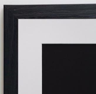 Bilderrahmen Siena in Schwarz Modern mit Passepartout in Weiss 2, 0 - alle Größen