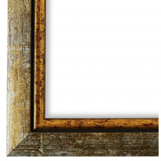 Bilderrahmen Grau Gold Retro Vintage Holz Perugia 3, 0 - 40x60 50x50 50x60 60x60