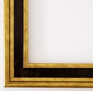 Bilderrahmen Gold Schwarz Antik Urkunde Holz Hamburg 3, 4 - alle Größen NEU