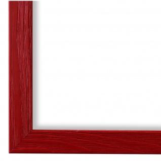 Bilderrahmen Rot Modern Holz Siena 24x30 28x35 30x30 30x40 30x45 40x40 40x50
