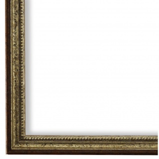 Bilderrahmen Silber Braun Barok Rokoko Holz Empoli 1, 5 - 40x60 50x50 50x60 60x60