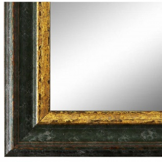 Wandspiegel Spiegel Grün Gold Vintage Retro Holz Forli 3, 7 - NEU alle Größen