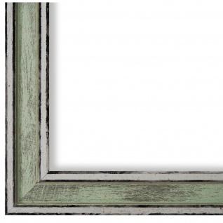 Bilderrahmen Grün Retro Shabby Holz Lugnano 2, 8 - NEU alle Größen