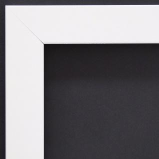 Bilderrahmen matt Weiss Modern Rahmen Holz Art Leverkusen 3, 3 - alle Größen